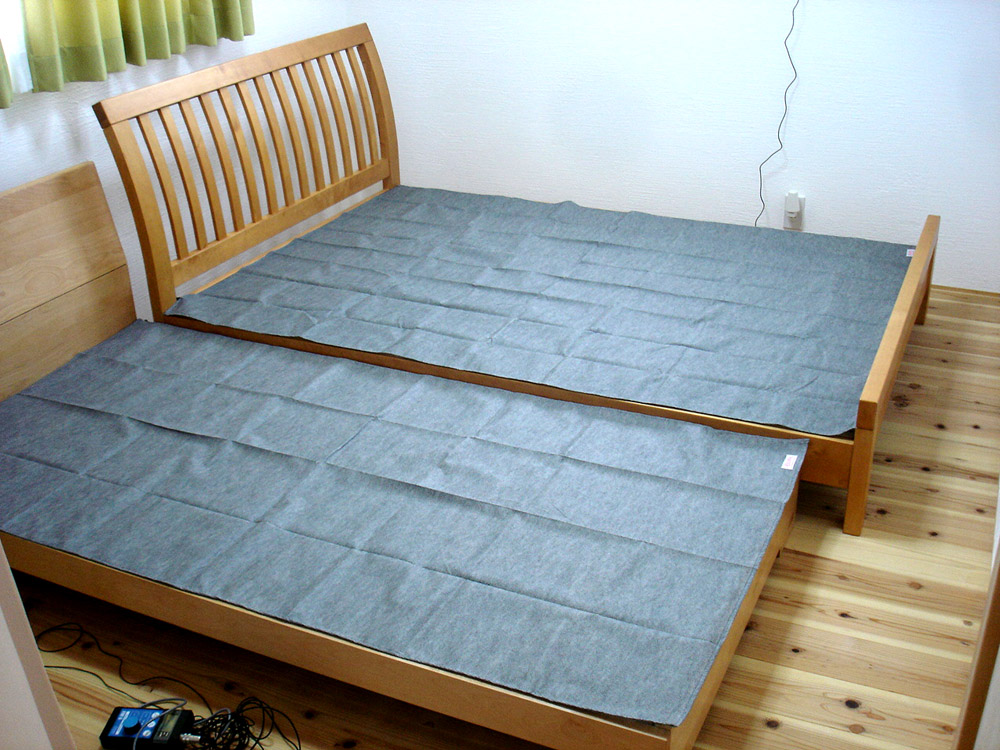 ベッドの電場対策例